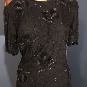 Gorgeous silk and sequined top!!